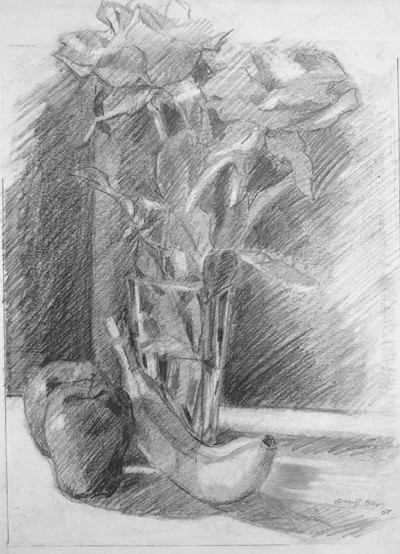 still life drawing. still life
